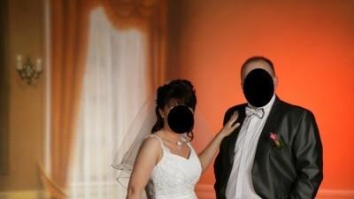 Oryginalna suknia ślubna-noszona tylko raz