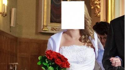 Oryginalna suknia ślubna z salonu Anny Skrzyszowkiej, rozm. 38/40