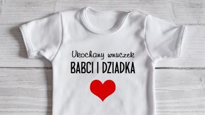 Oryginalne bodziaki dziecięce z napisami - moocha.pl