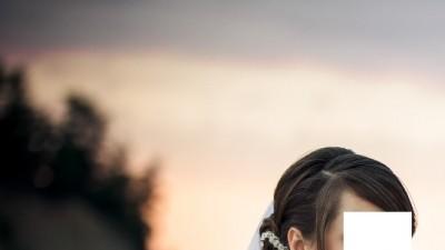 Ozdoba do włosów wykonana z kryształków