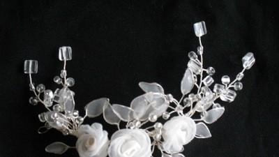 Ozdoba na włosy z kryształkami