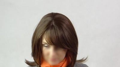 Peruka 100% naturalne włosy human hair brąz naturalny