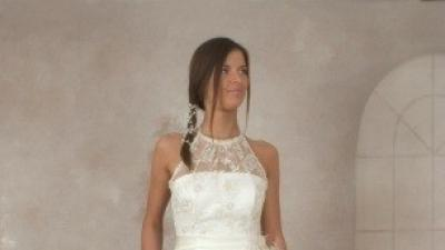 Piękna biała, koronkowa suknia ślubna Visual Chris