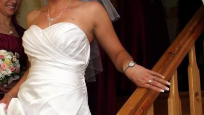 Piękna biała suknia kolekcji Sincerity Birdal 2010