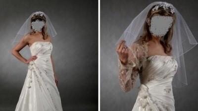 Piękna biała suknia ślubna na sprzedaż.