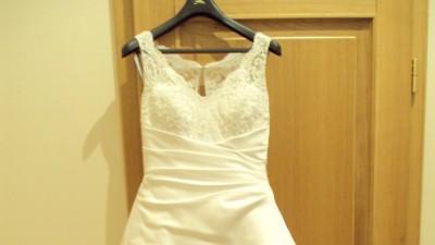 Piękna biała suknia ślubna z dodatkami!!!