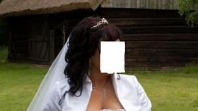 Piękna Biała Suknia Vanessa 44-48 + Welon Gratis!