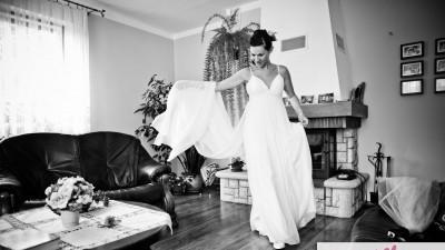 Piękna, delikatna suknia ślubna, ANNA KARA
