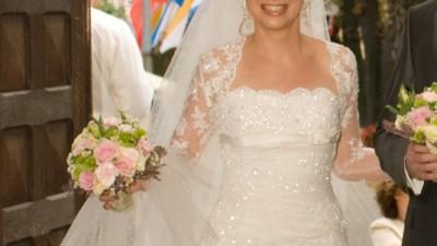 Piękna hiszpańska suknia La Sposa Mecenas+welon gratis