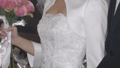 Piekna i bardzo elegancka suknia ślubna r. 36