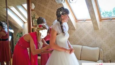 Piekna i skormna suknia ślubna Agnes 10229