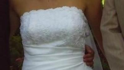 Piękna i tania skunia ślubna