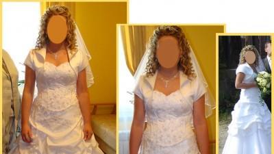 Piękna i tania suknia ślubna   !!!350 zł!!!  + gratis bolerko  :)