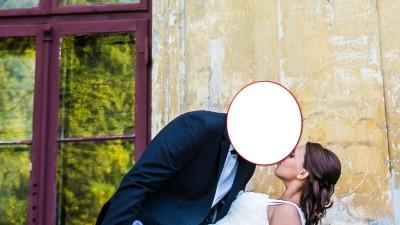 piękna koronkowa suknia  ślubna !