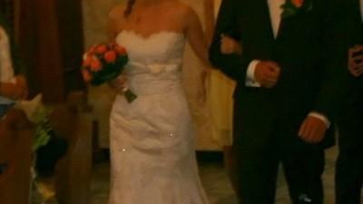 Piękna koronkowa suknia z salonu Claudia Langer