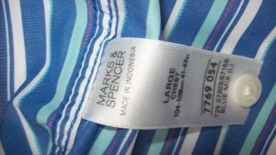 Piekna koszula MARKS&SPENCER w PIEKNE PASECZKI W KOLORZE NIEBIESKIM