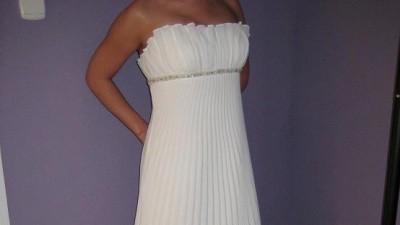 Piękna plisowana suknia ślubna!!!