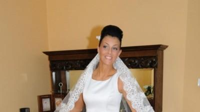piękna prosta biała suknia+welon,buty Gdańsk