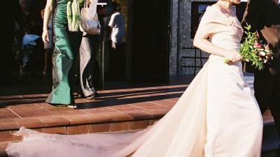 Piękna, skromna suknia ślubna Maries de Paris, z salonu Cymbeline