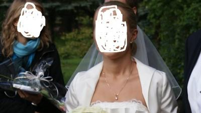 "Piękna suknia ecru. Połączenie pronovias ""gemma"" z white one"