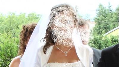 Piękna suknia ślubna 36/40, 175 + 5 cm obcas, bolerko gratis