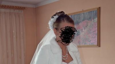 Piękna suknia ślubna 36-40- biała + 3 gratisy