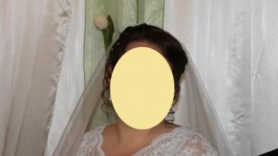 piękna suknia ślubna 48/50, specjalnie zaprojektowana