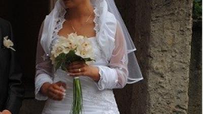 Piękna suknia ślubna Affinity Bridal 2010 model: Venetia w roz.38,kolor biel.