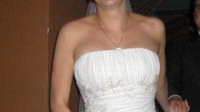 Piękna suknia ślubna Agnes 1758 rozm.36/38