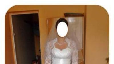 Piękna suknia ślubna+bolerko+welon+gratis!!!