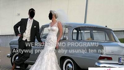 Piękna suknia ślubna cappuccino