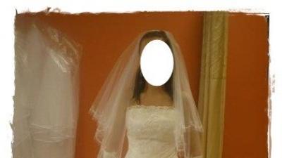 Piękna suknia ślubna+ dodatki