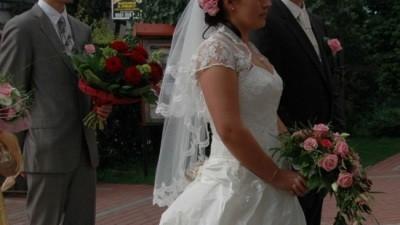 Piękna Suknia ślubna - ecri