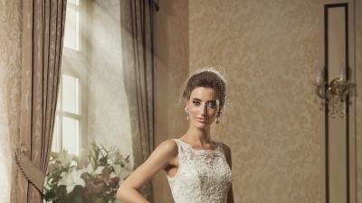 Piękna Suknia Ślubna Ecru Flora