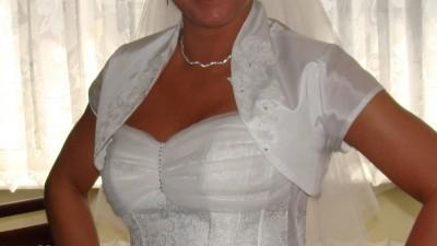 Piękna Suknia Ślubna Farage + Dodatki