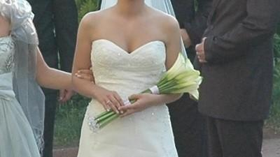 Piękna suknia ślubna FLAMA z kolekcji La Sposa 2009 -r.34