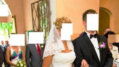 Piękna Suknia Ślubna - francuska