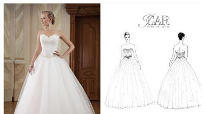 Piękna suknia ślubna Igar - Serbia - Księżniczka