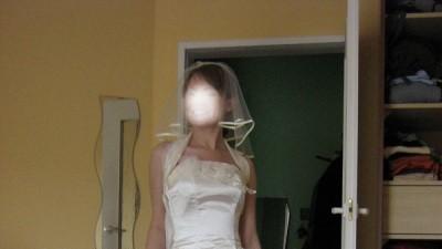 Piękna suknia ślubna koloru ecru!! 36-38