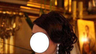 Piękna suknia ślubna -kryształki svarovski