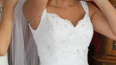 Piękna suknia ślubna La Mariee roz . 36-38