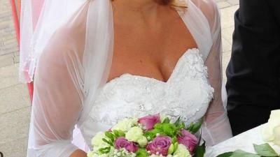 Piękna suknia ślubna Ms Moda Marcelle 2012 księżniczka princeska serduszko ++++