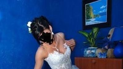 Piękna suknia slubna nie zniszczona roz.38.wiązany gorset...+dodatki.cena 800zł.