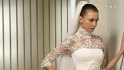 Piękna suknia ślubna Pravia z kolekcji San Patrick 2010