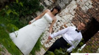 Piękna suknia ślubna Romance ecru rozm. 36/38