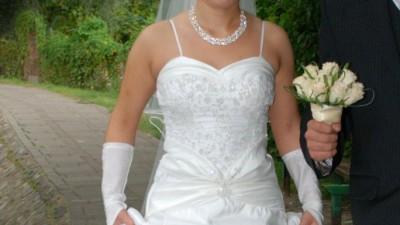 Piękna suknia ślubna roz. 38 ECRU