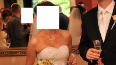 Piękna suknia ślubna(rozm.36/38) - Księżniczka! Jedyna w swoim rodzaju!
