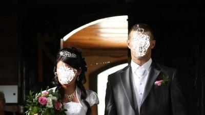 Piękna suknia ślubna rozm.38