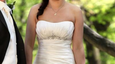 piękna suknia ślubna, stan idealny