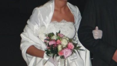 piękna suknia ślubna, super cena